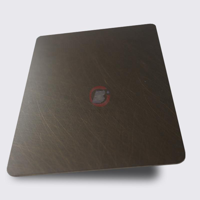 高比1806 手工乱纹不锈钢水镀发黑青古铜 3