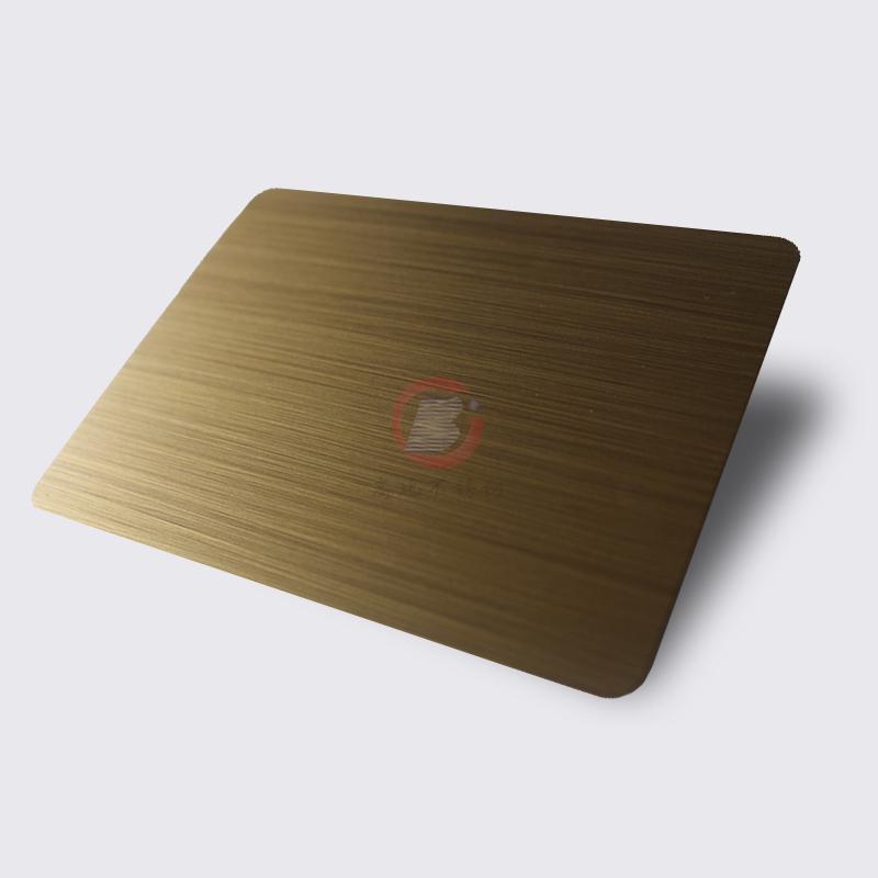高比1807 手工拉絲黃銅發黑不鏽鋼板 1