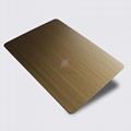 高比1807 手工拉絲黃銅發黑不鏽鋼板 2