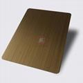 高比1807 手工拉絲黃銅發黑不鏽鋼板 3