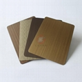 高比1807 手工拉絲黃銅發黑不鏽鋼板 4