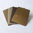 高比1807 手工拉絲黃銅發黑不鏽鋼板