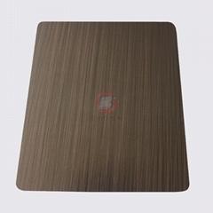 高比1809 手工拉丝镀黑红古铜不锈钢图片