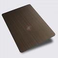 高比1809 手工拉丝镀黑红古铜不锈钢 2