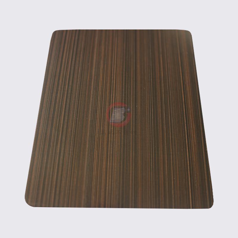 高比1810砂带拉丝镀黑不锈钢红古铜 1