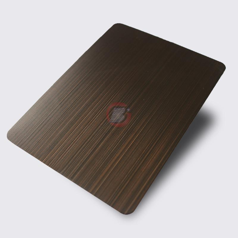 高比1810砂带拉丝镀黑不锈钢红古铜 3
