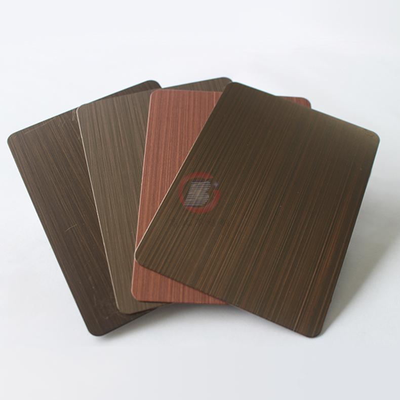 高比1810砂带拉丝镀黑不锈钢红古铜 4