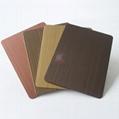 高比1811手工拉丝发黑红古铜不锈钢 5