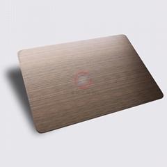 高比1812镀黑机器拉丝红古铜不锈钢板