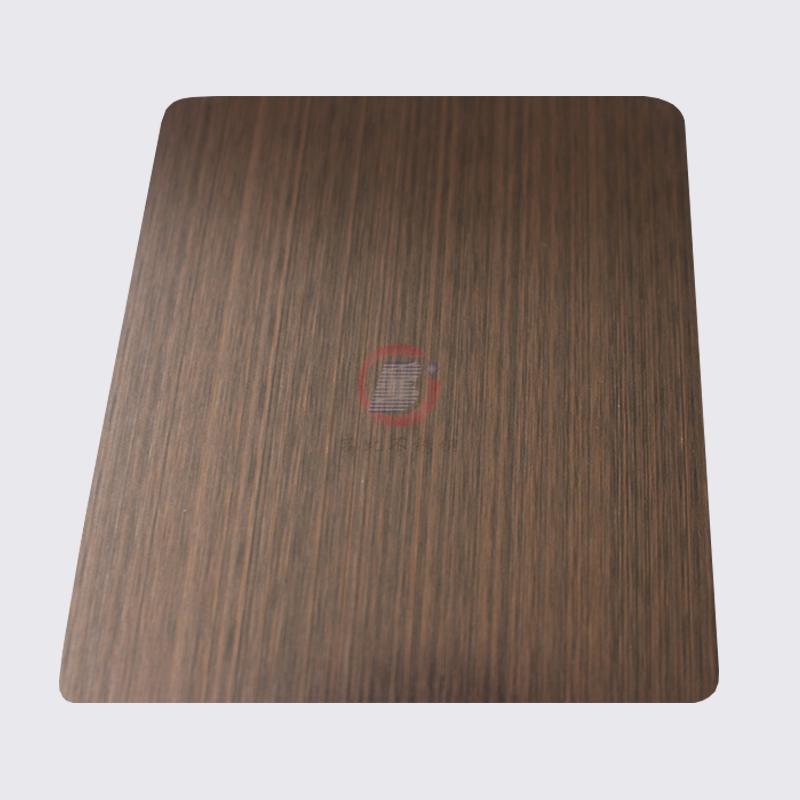高比1812鍍黑機器拉絲紅古銅不鏽鋼板 5
