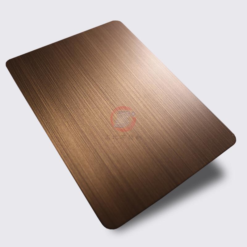 高比1813手工拉絲偏黃紅古銅發黑不鏽鋼 1