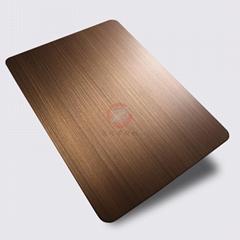 高比1813手工拉絲偏黃紅古銅發黑不鏽鋼