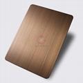 高比1813手工拉絲偏黃紅古銅發黑不鏽鋼 2