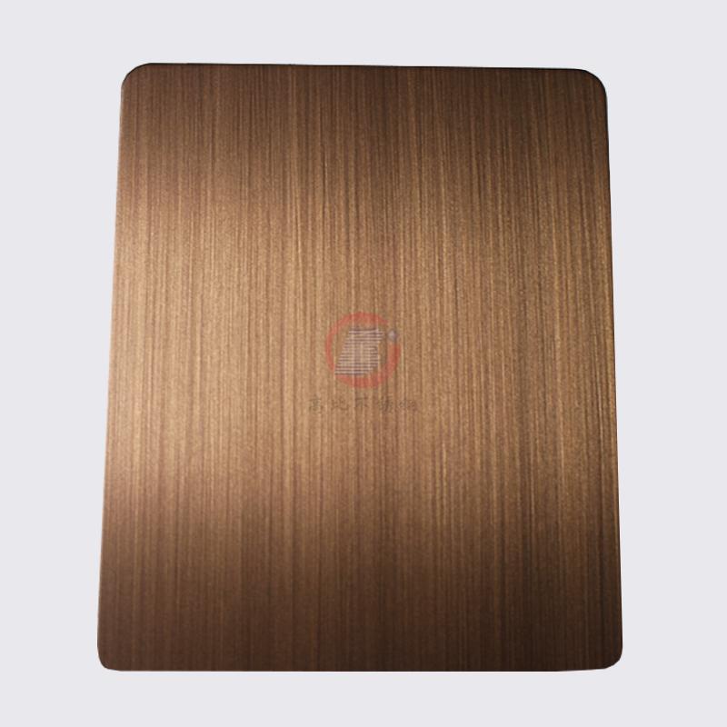 高比1813手工拉丝偏黄红古铜发黑不锈钢 5
