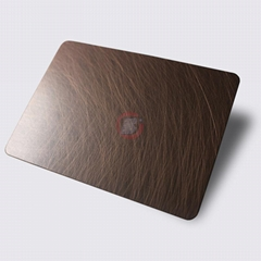 高比1814 手工乱纹红古铜发黑不锈钢