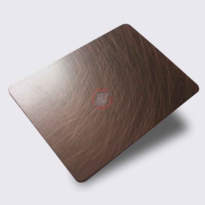 高比1814 手工乱纹红古铜发黑不锈钢 2