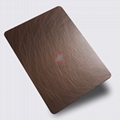 高比1814 手工乱纹红古铜发黑不锈钢 5