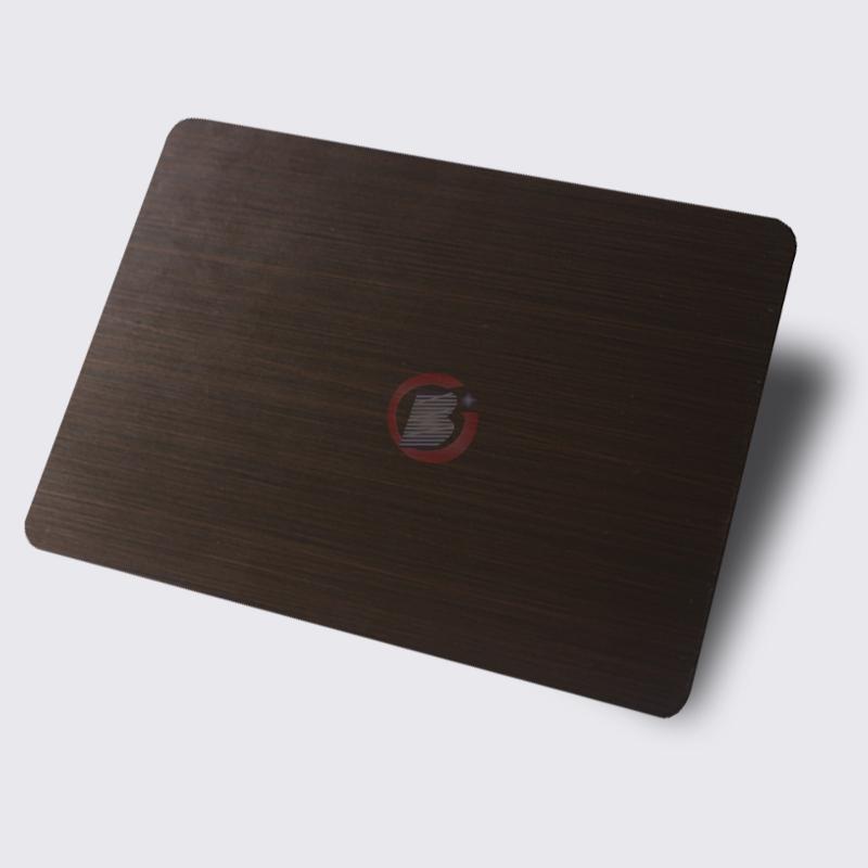 高比1815 手工拉丝深黑红古铜不锈钢 1