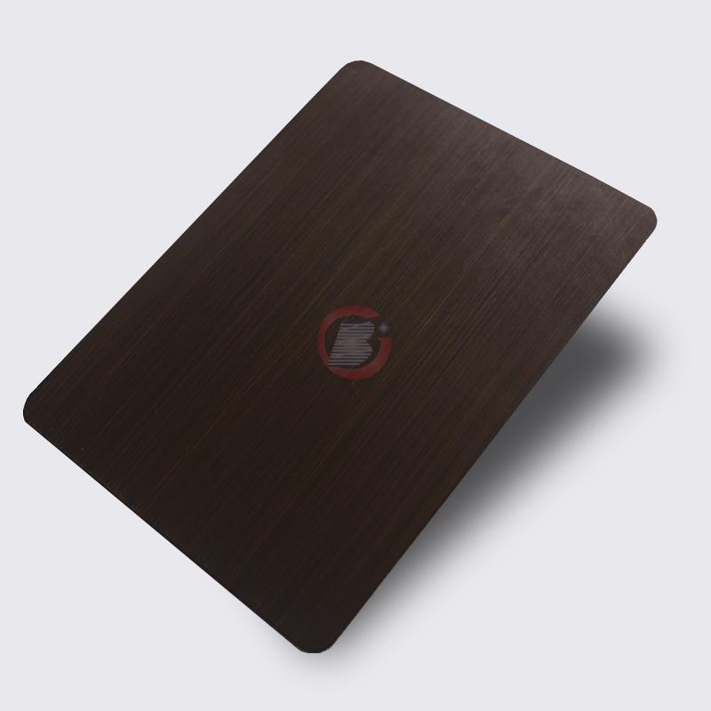 高比1815 手工拉丝深黑红古铜不锈钢 3