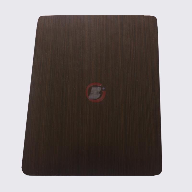 高比1815 手工拉絲深黑紅古銅不鏽鋼 4