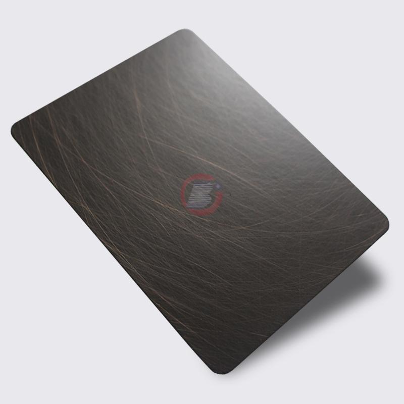 高比1816 手工乱纹不锈钢发黑红古铜 1