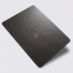 高比1816 手工乱纹不锈钢发黑红古铜