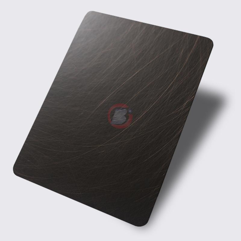 高比1816 手工乱纹不锈钢发黑红古铜 2