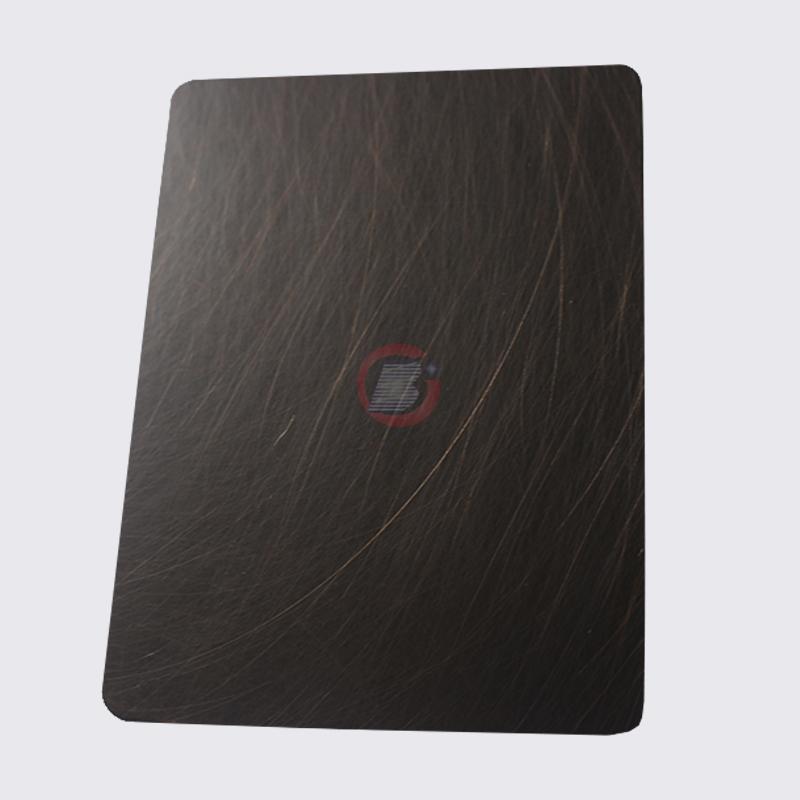 高比1816 手工乱纹不锈钢发黑红古铜 4