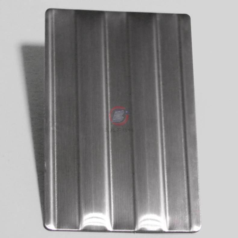 高比进口不锈钢压花粗条纹 打印设备装置材料 1