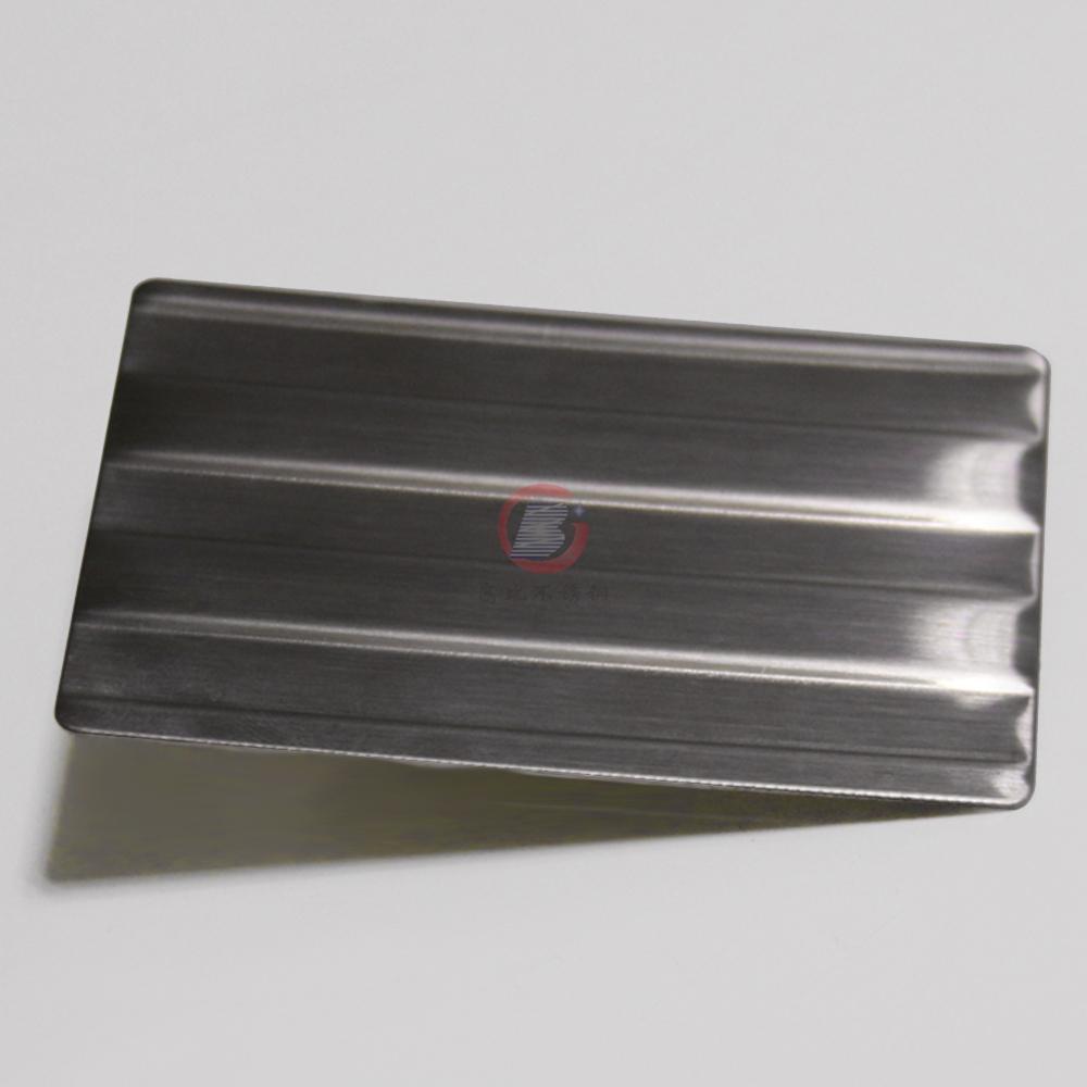 高比进口不锈钢压花粗条纹 打印设备装置材料 4
