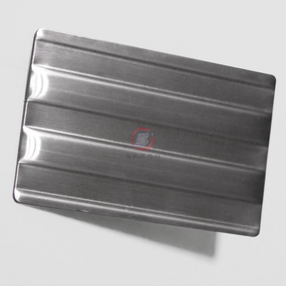 高比进口不锈钢压花粗条纹 打印设备装置材料 5
