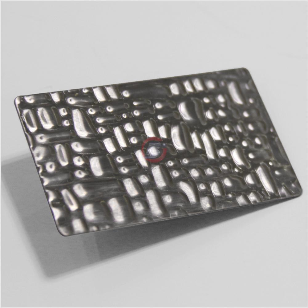 高比不锈钢鳄鱼纹压花板 优质进口不锈钢板 1