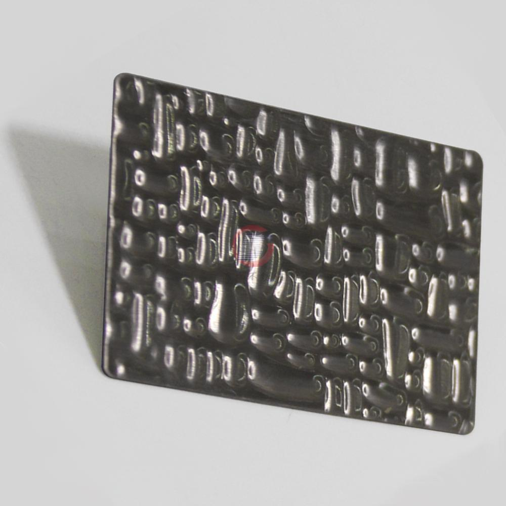 High Ratio Imported 304 stainless steel crocodile pattern embossing board 2