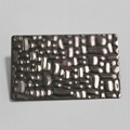 High Ratio Imported 304 stainless steel crocodile pattern embossing board 4