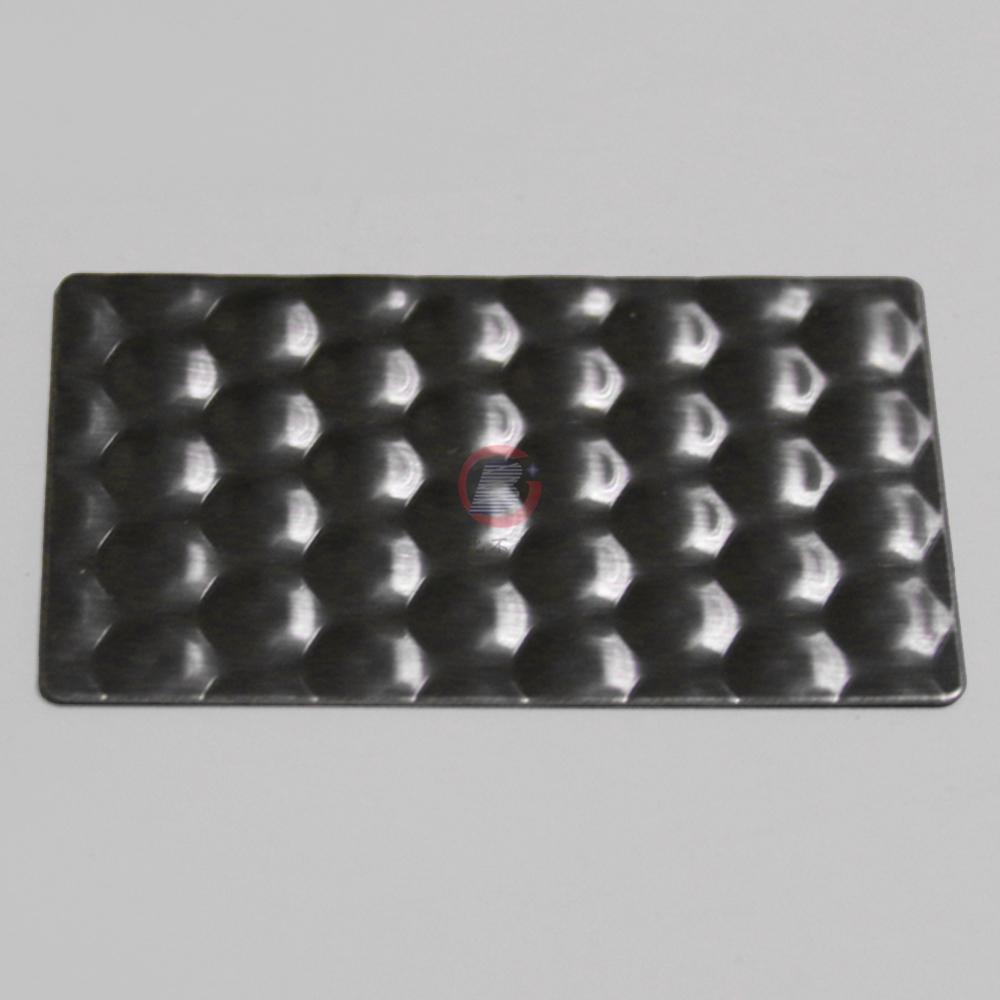 高比进口蜂巢纹不锈钢压花 机械运用装置材料 4