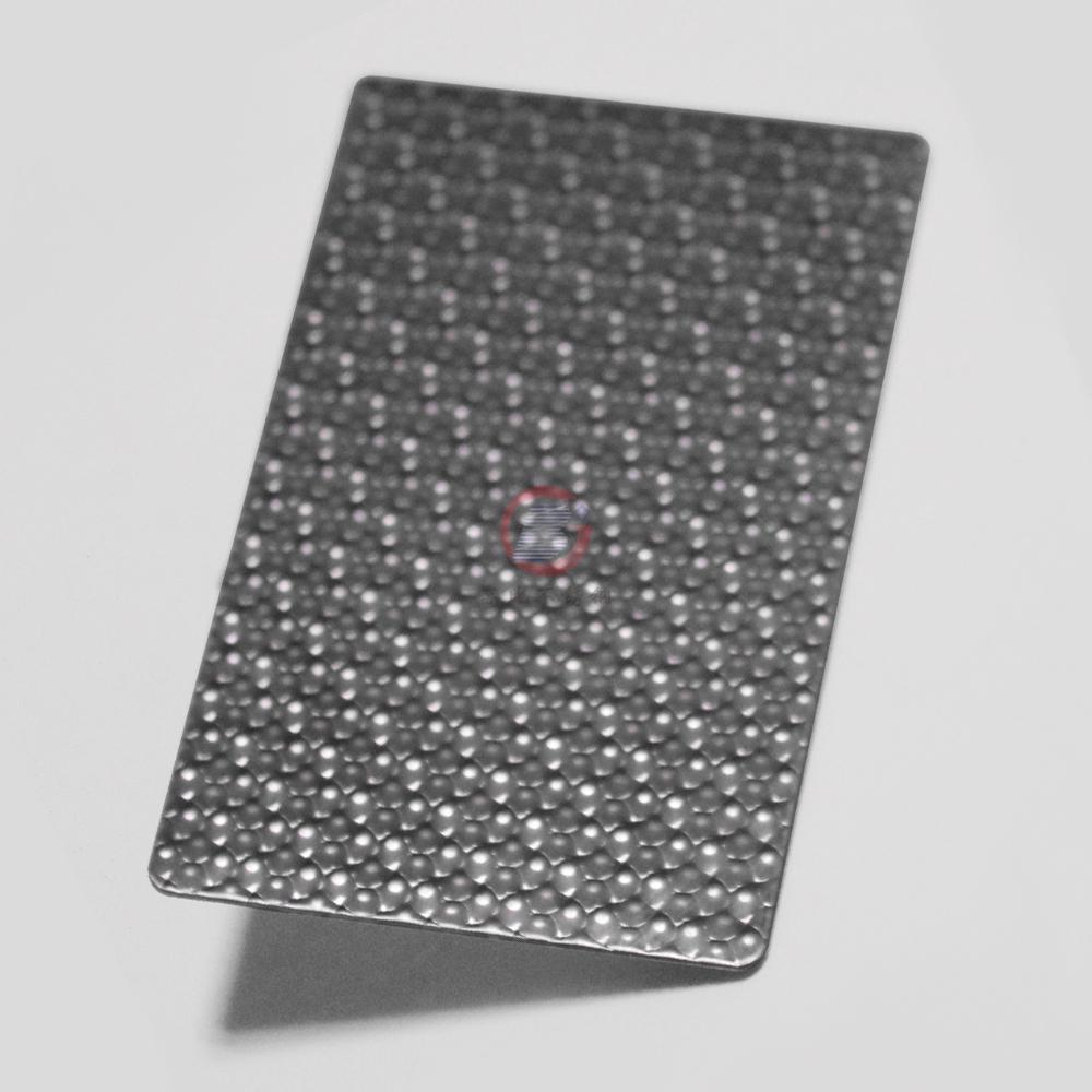 高比304不鏽鋼黑鈦荔枝紋壓花板  3