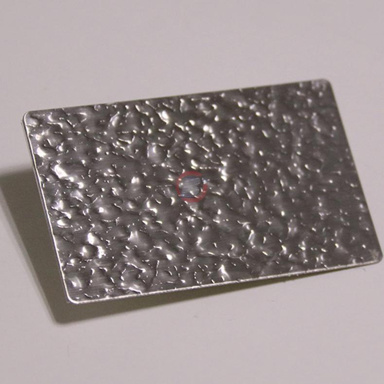 高比進口不鏽鋼皮紋壓花板 1