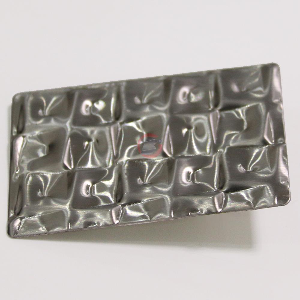 高比萬字紋不鏽鋼 優質304冷扎鋼板發紋壓花板 2