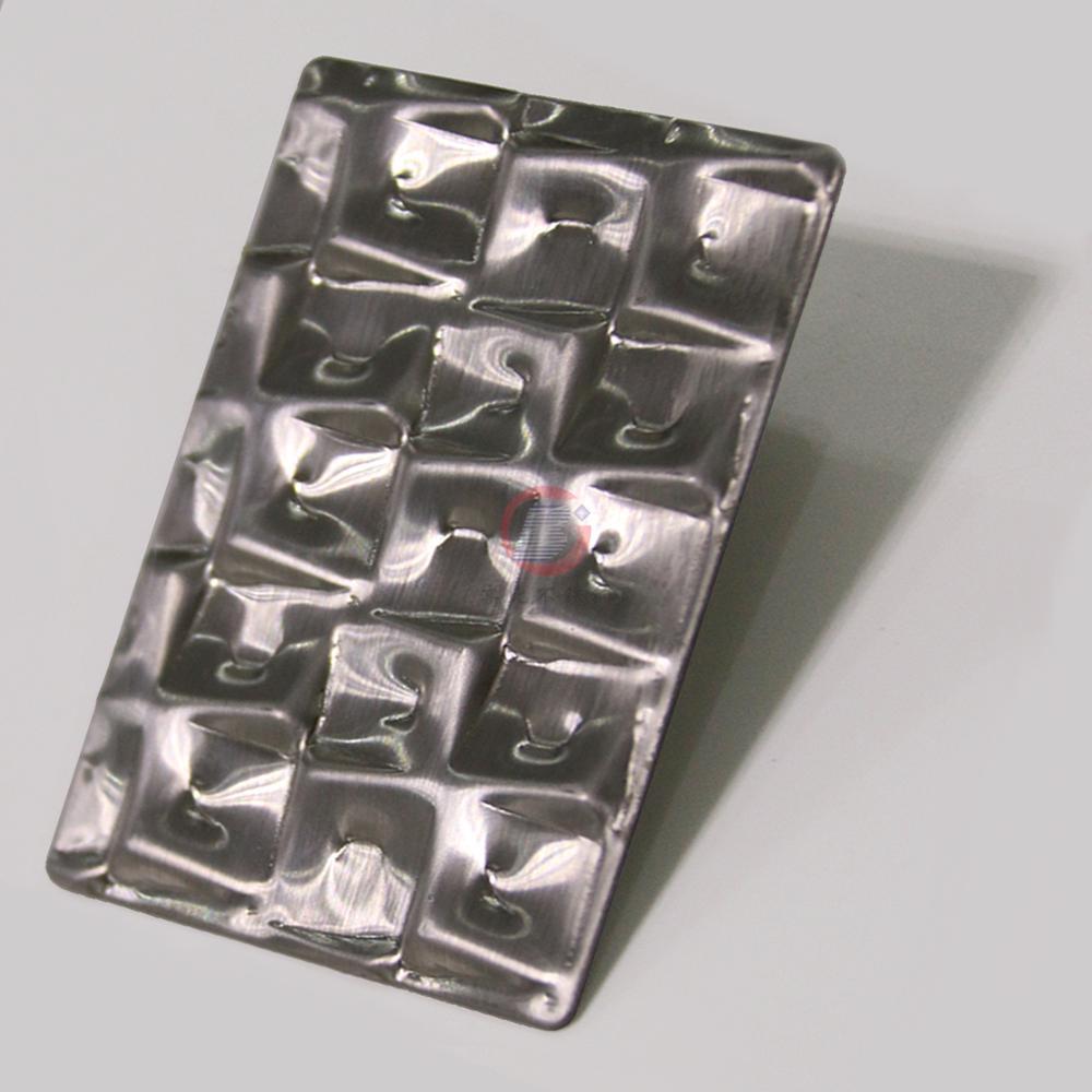 高比萬字紋不鏽鋼 優質304冷扎鋼板發紋壓花板 3