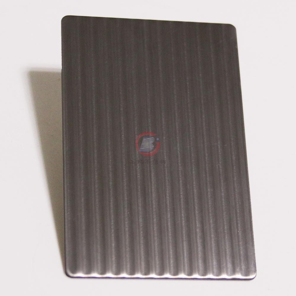 高比磨砂细条纹不锈钢压花板 1