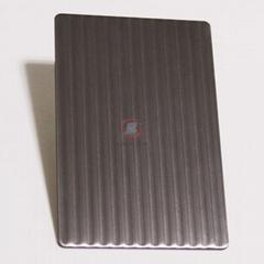 高比磨砂细条纹不锈钢压花板
