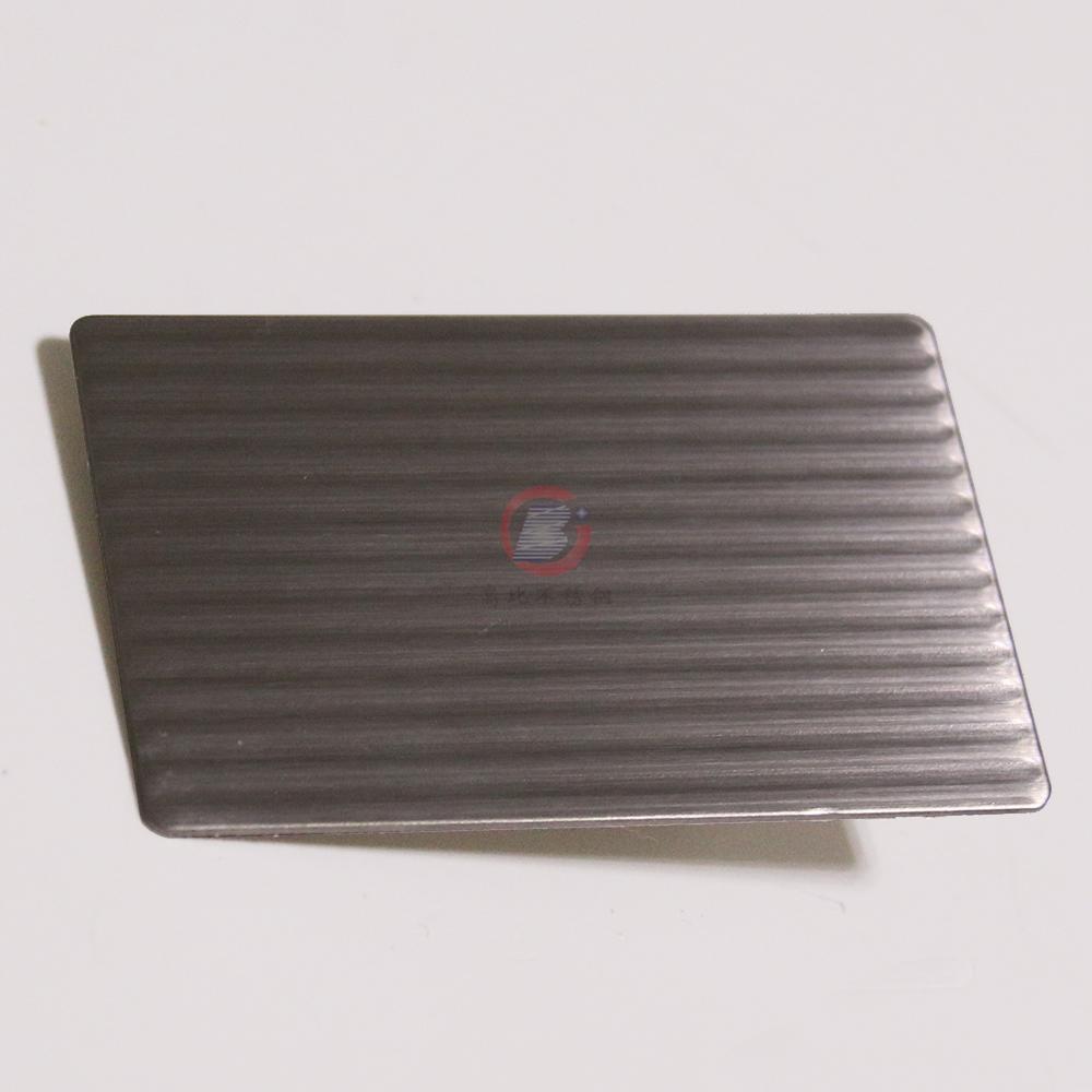 高比磨砂细条纹不锈钢压花板 2