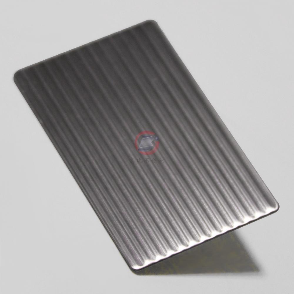 高比磨砂細條紋不鏽鋼壓花板 3