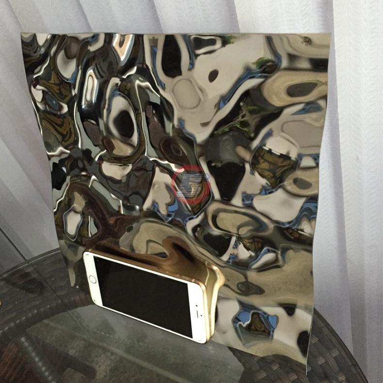 高比不鏽鋼沖壓花紋鏡面大水波紋 2