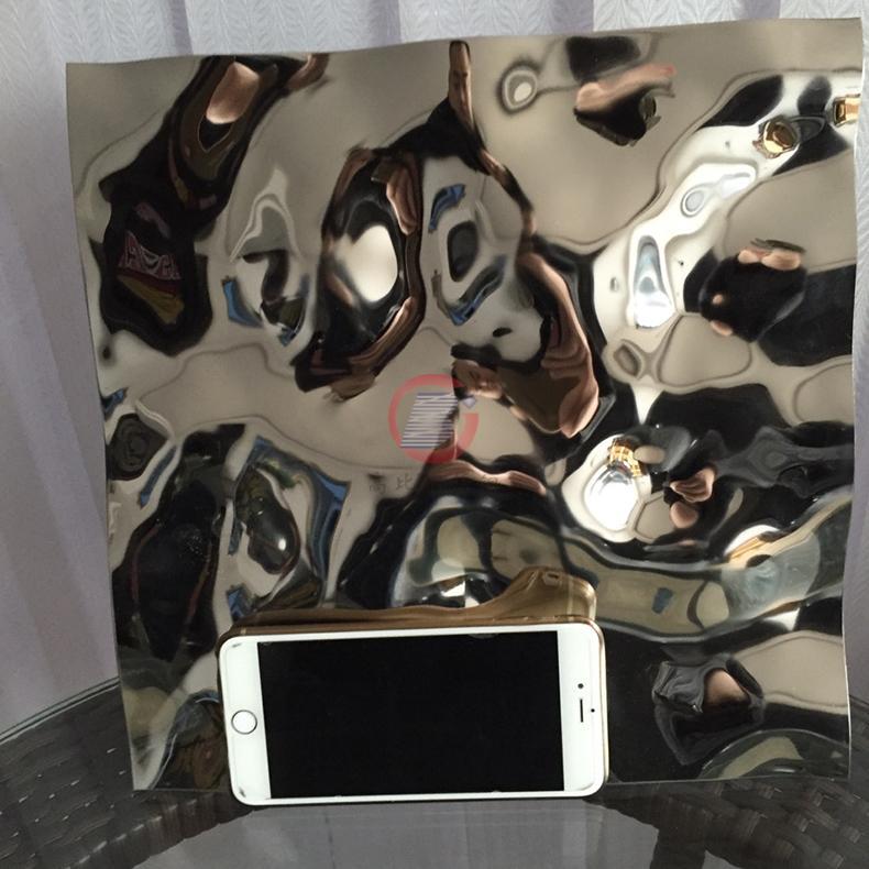 高比不鏽鋼沖壓花紋鏡面大水波紋 4