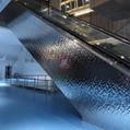 高比鏡面不鏽鋼中水波紋 商場立柱裝飾材料 2