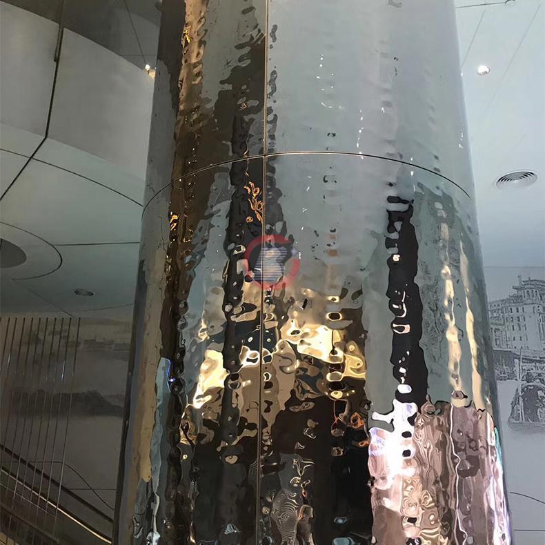 高比镜面不锈钢中水波纹 商场立柱装饰材料 3