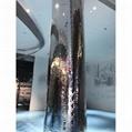 高比鏡面不鏽鋼中水波紋 商場立柱裝飾材料 4
