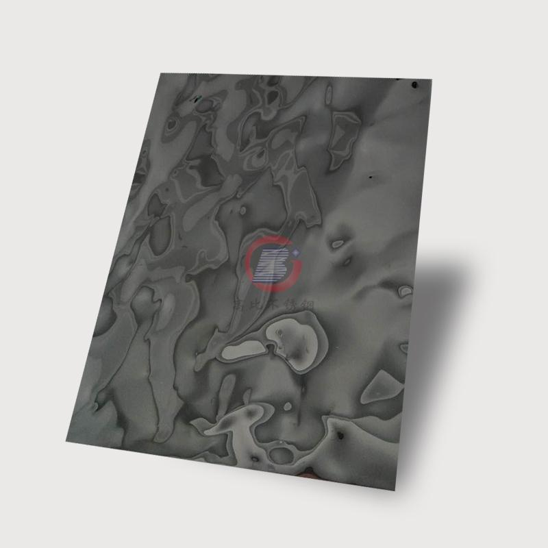 高比黑色鏡面不鏽鋼沖壓大淺水波紋 2