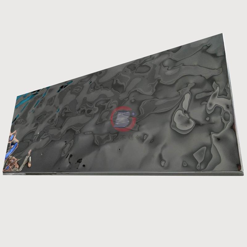 高比304 黑色鏡面不鏽鋼沖壓大淺水波紋 3